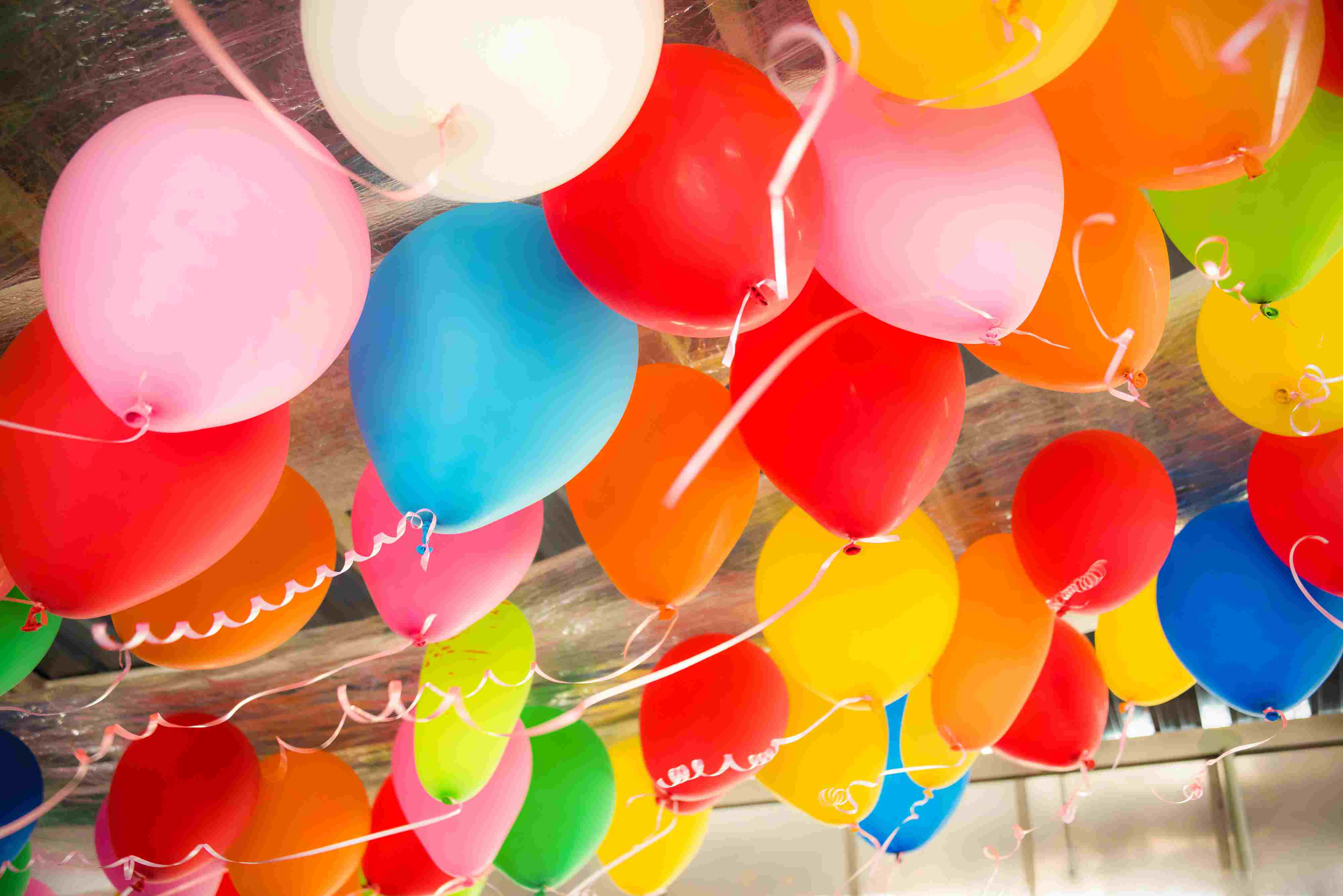 Colorful Balloons Clean Up Home
