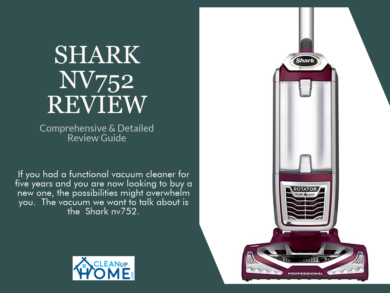 Shark nv752 review