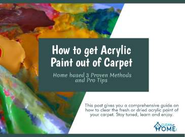 How To Acrylic paint out of carpet